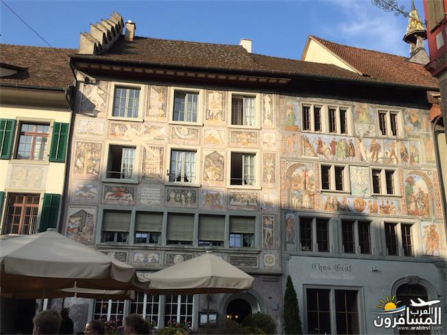 سويسرا بيوت ملوّنة و جداريات-543993