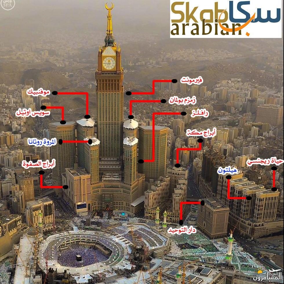 655485 المسافرون العرب صورة توضح الفنادق القريبة من الحرم