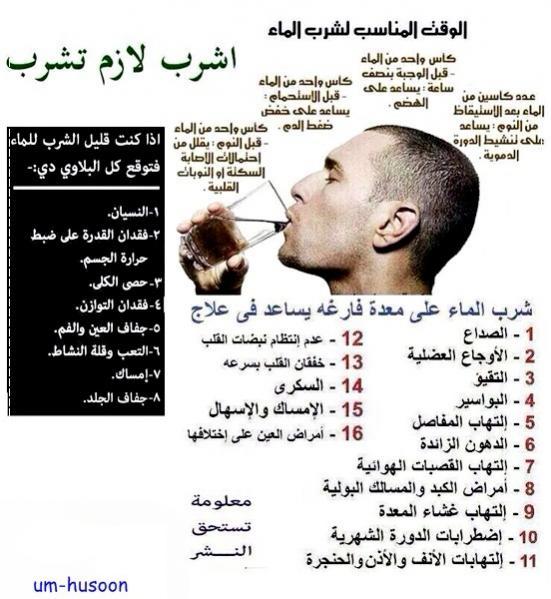 معلومان عن شرب الماء 686601 المسافرون العرب