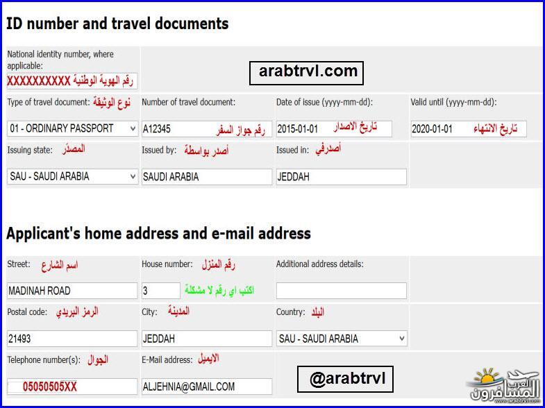700844 المسافرون العرب طريقة تعبئة نموذج المانيا