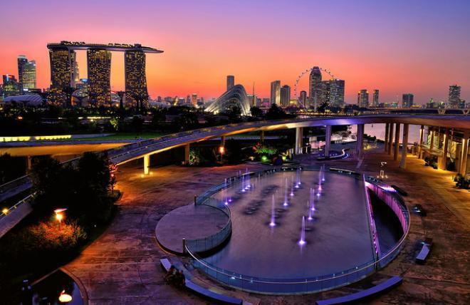 قناطر مارينا في سنغافورة للجمال عنوان