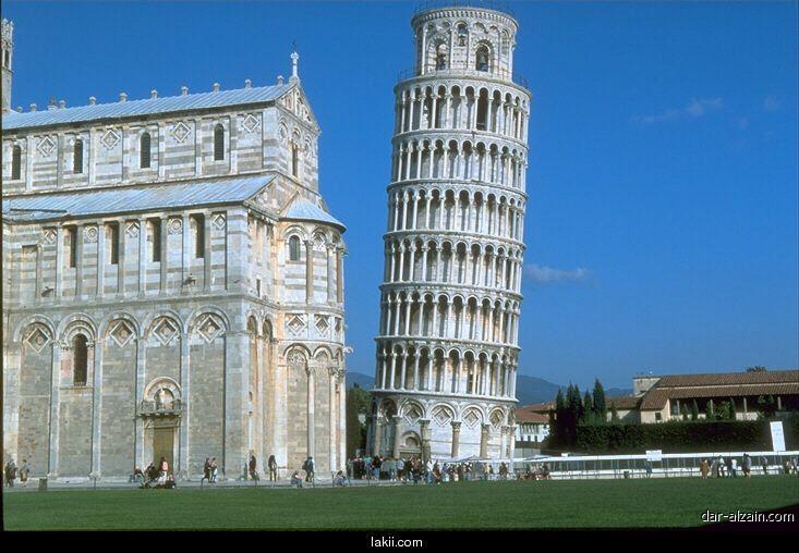 برج بيزا المائل هو احد أشهر المعالم السياحية في العالم