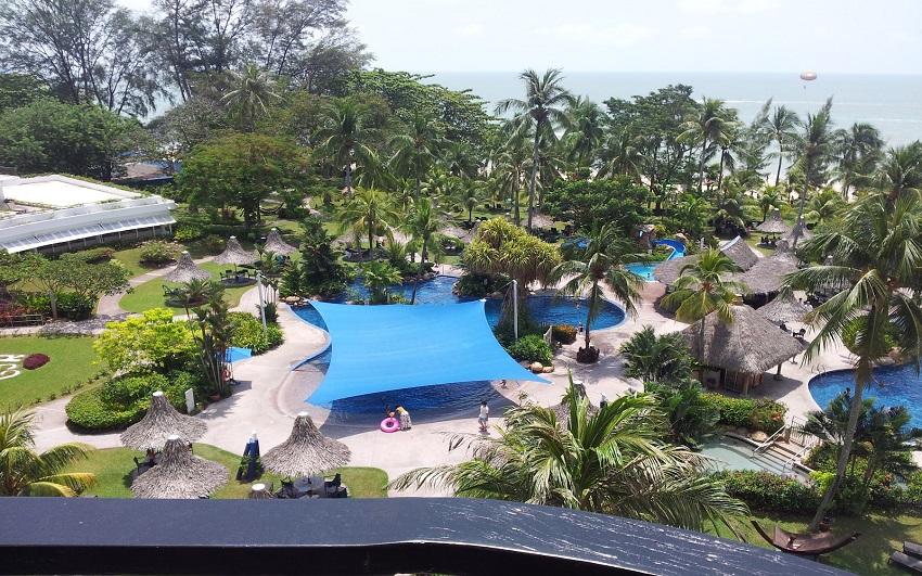 أفضل وأرقى فندق فى بينانج ماليزيا للعرسان( فندق شنجريلا جولدن ساندز في جزيرة بينانج