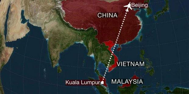 غموض مصير الطائرة الماليزية المفقودة من كوالالمبور الى بكين