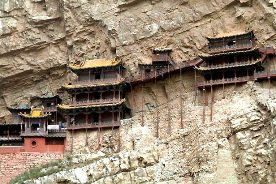 صورالمعابد الأكثر رعبا بالعالم على منحدرات جبال الصين