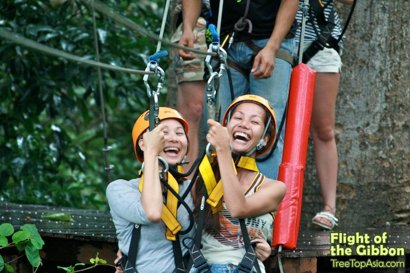 رحلة الطيران في الادغال Flight on the gibbon فى بانكوك