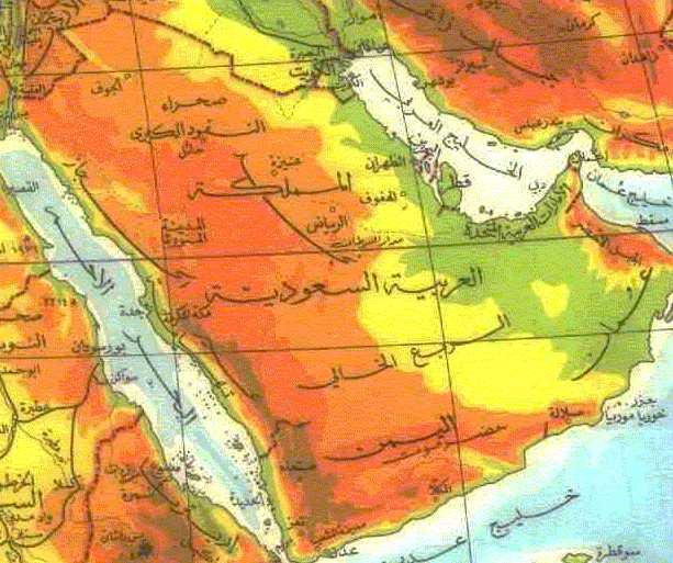 خريطة السعودية , Saudi arabia Map