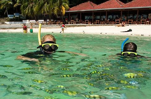 حديقة بحريه للغطس والغوص Marine Park Diving and snorkeling , لنكاوى ماليزيا 2014