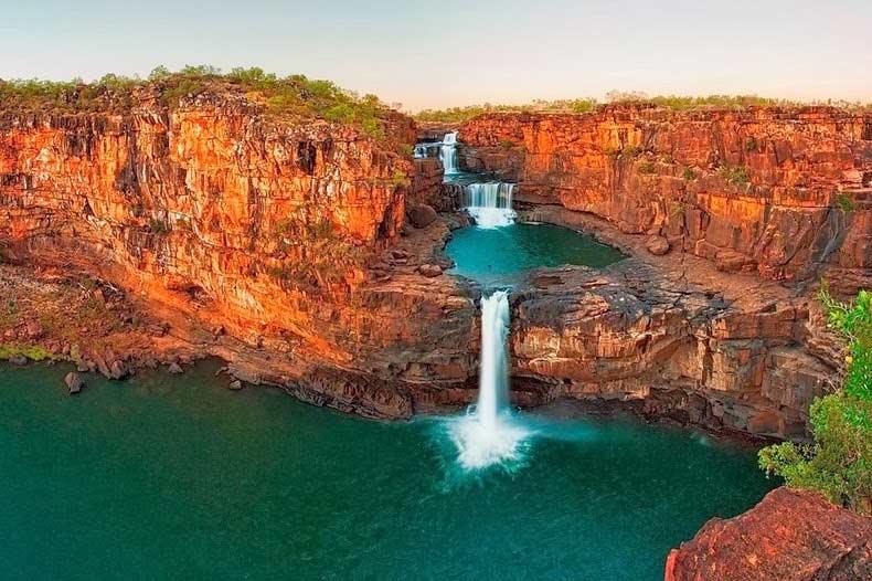 زيارة الى شلالات ميتشل منطقة كيمبرلي غرب أستراليا،