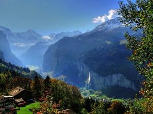 زيارة الىى قرية وينج أجمل قرية في سويسرا Wengen