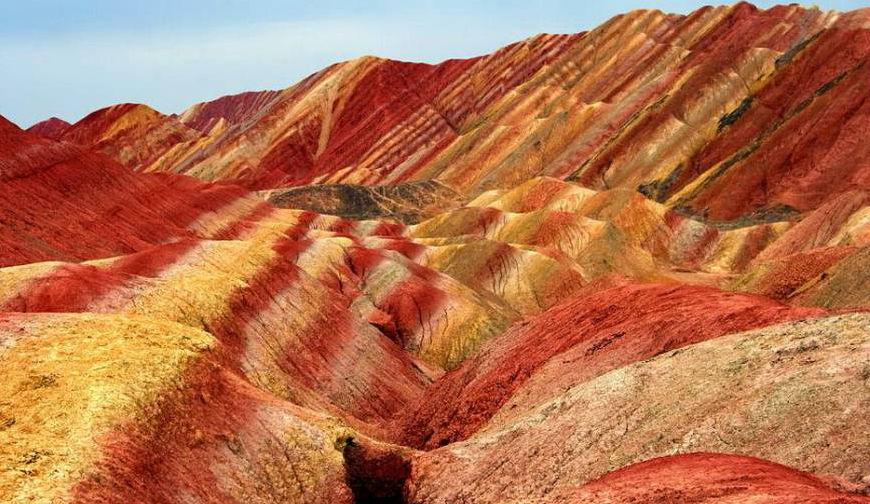 صور الصخرية الملونة في الصين