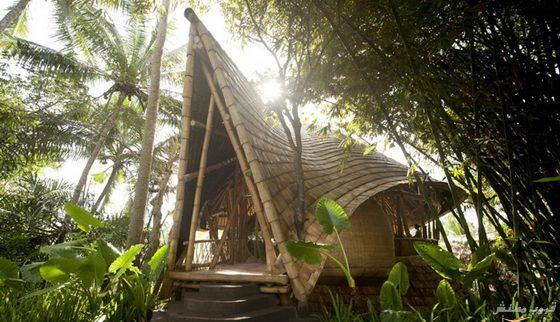 صور بيت الخيزران فى بالي