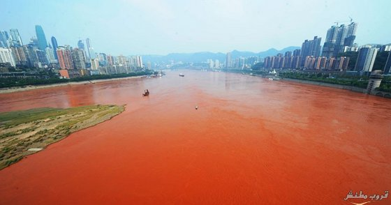 النهر الاحمر في شنغهاي النهر الاحمر نهر اليانغتسي او تشانغ جيانغ اطول نهر في آسيا