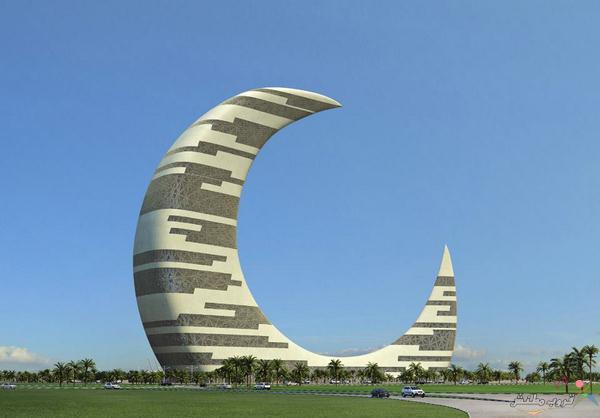 صور برج الهلال في دبي