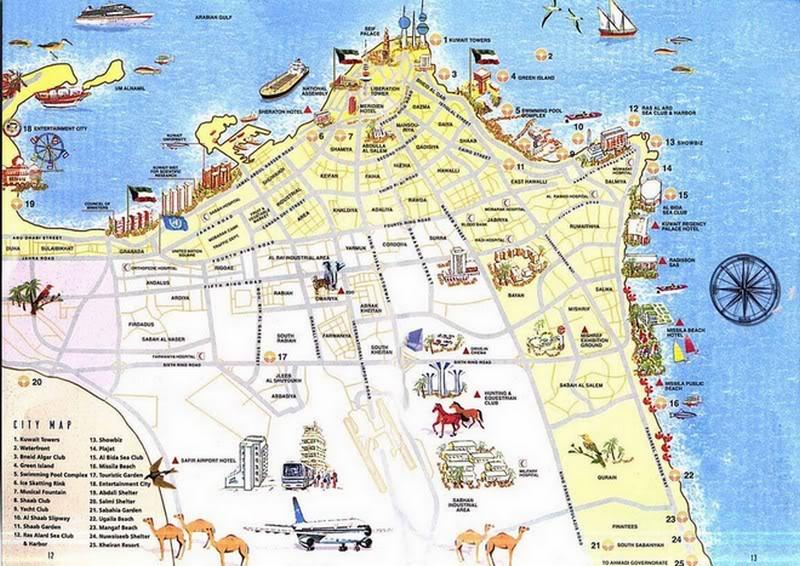 خريطة سياحية للكويت