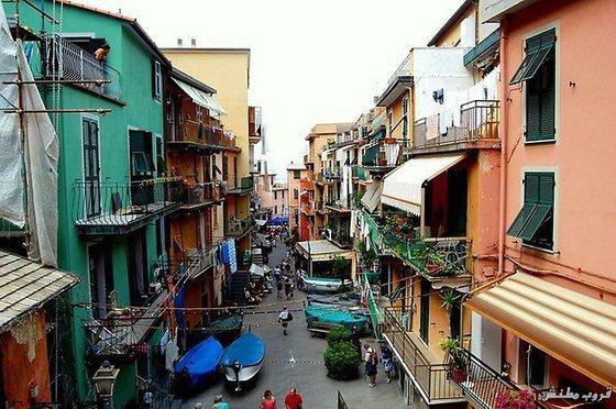 زيارة الى المدينة الملونة على الصخور فى ايطاليا 2015