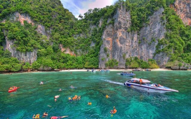 رحلة الى جزر فاي فاي التايلاندية ، طبيعة غاية في الجمال
