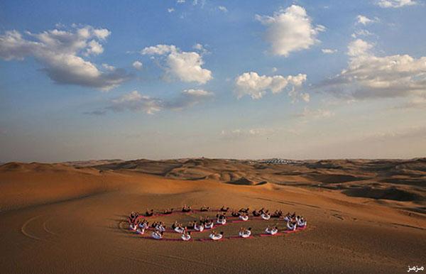 صورمنتجع لوتس الصحراء في قلب صحراء جوبي فى الصين