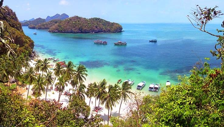 صور أنغ ثونغ الحديقة الوطنية البحرية قرب كوساموي ( سياحة تايلاند 2015)