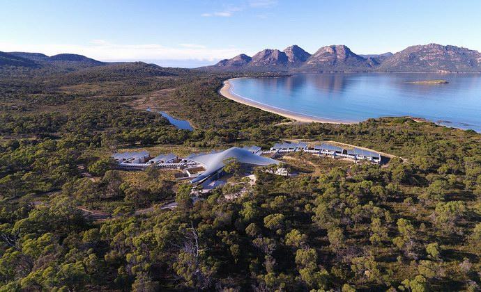 منتجع جديد على شاطئ خليج المحار في تاسمانيا الأسترالية