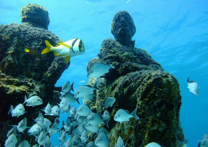 صور متحف كانكون الغارق في أعماق الكاريبي