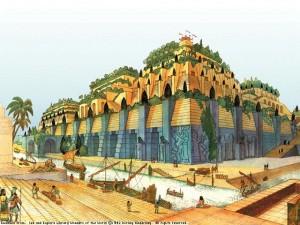 من عجايب الدنيا السبع حدائق بابل المعلقة في (العراق)