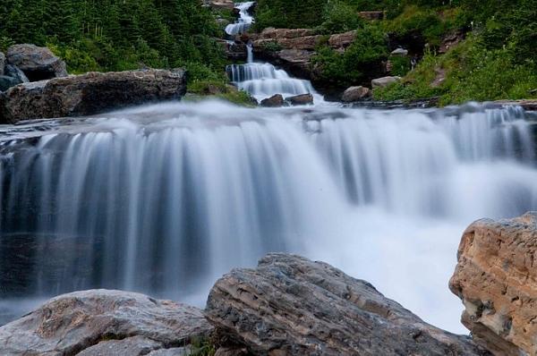 حديقة جلاسير وبعض من جبالها وأنهارها(شمال الولايات المتحدة الأمريكية )