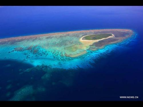 بالصور- مناظر خلابة من أعلى لجزر شيشا فى بحر الصين الجنوبى