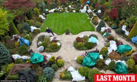 حديقة الفصول الأربعة في بريطانيا: طبيعة ساحرة وإبداع بلا حدود- صور