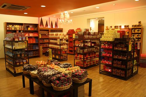 مشاتل الورد و الفراولة - محل الشكولاته