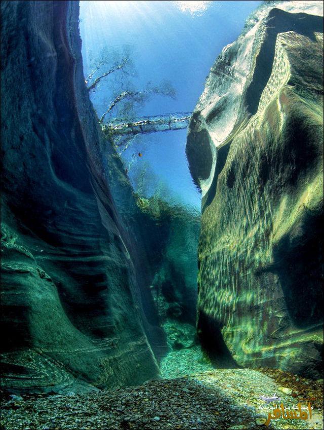 نهر تشاهد قاعه بسبب شدة نقاء المياة داخله