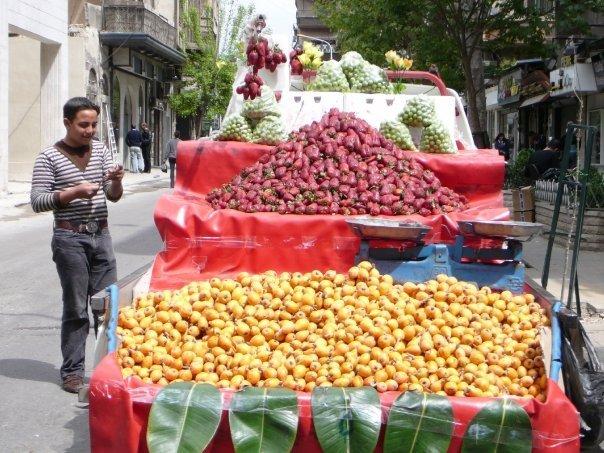 سوريا واكلاتها اللذيذه وفواكهها الطازجه