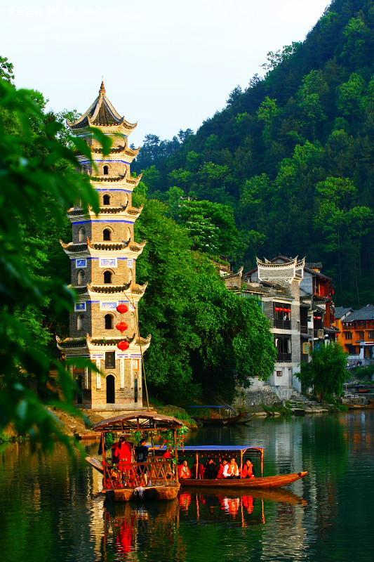 افتراضي قرية صينية مثل لوحة زيتية !!! صور بدقّة hd